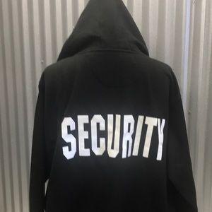 Tops - Hooded zip security sweatshirt